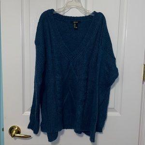 Blue F21 sweater